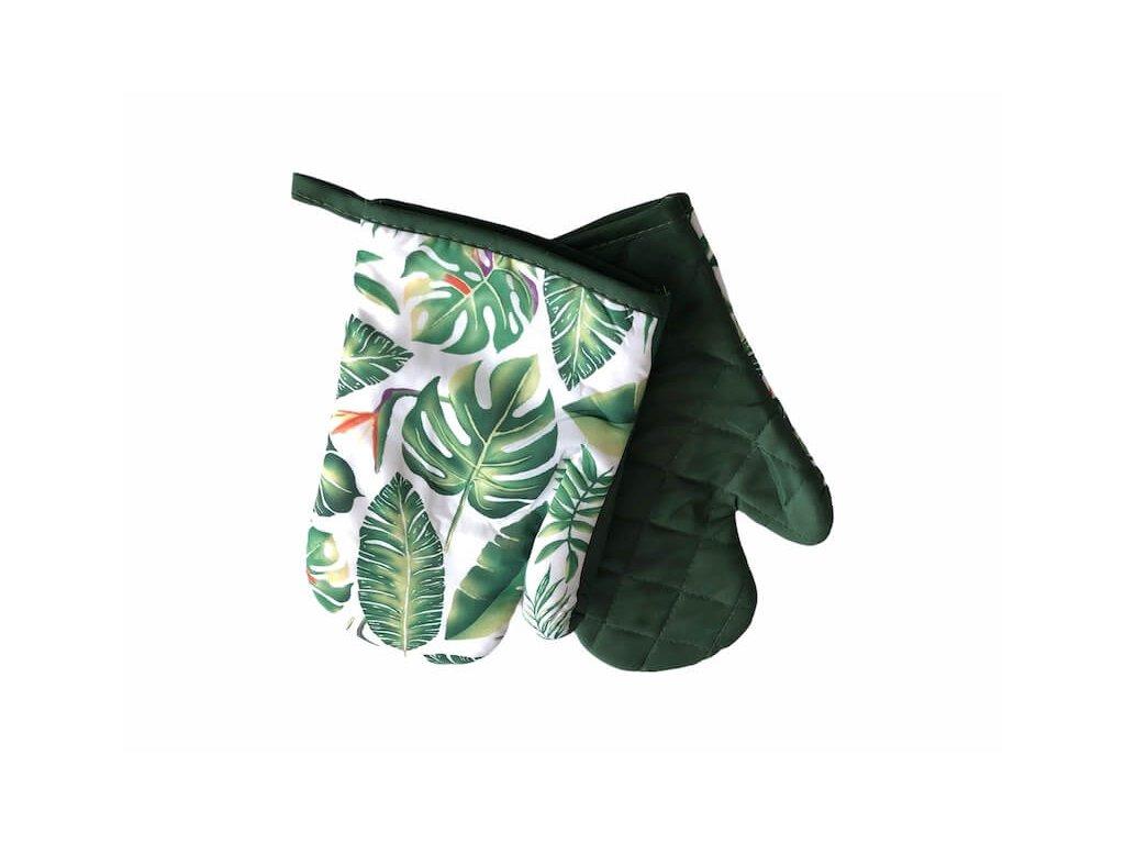 Sada kuchynských rukavíc v zelenej farbe s pútkom_Gabonga.sk