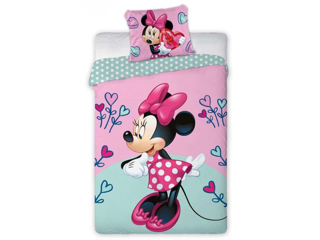 Obliečky Minnie Hearts Flower flower