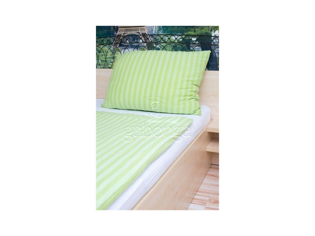 Jednofarebné obliečky z viskózy - farba zelená