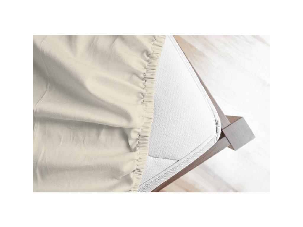 Svetlobéžová plachta z bavlneného saténu - rôzne veľkosti