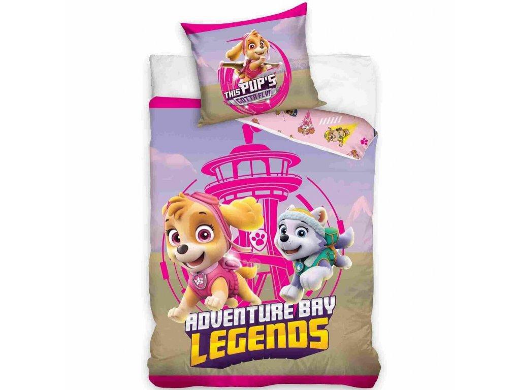 obliecky na postel pre deti labkova patrola dobrodruzstvo