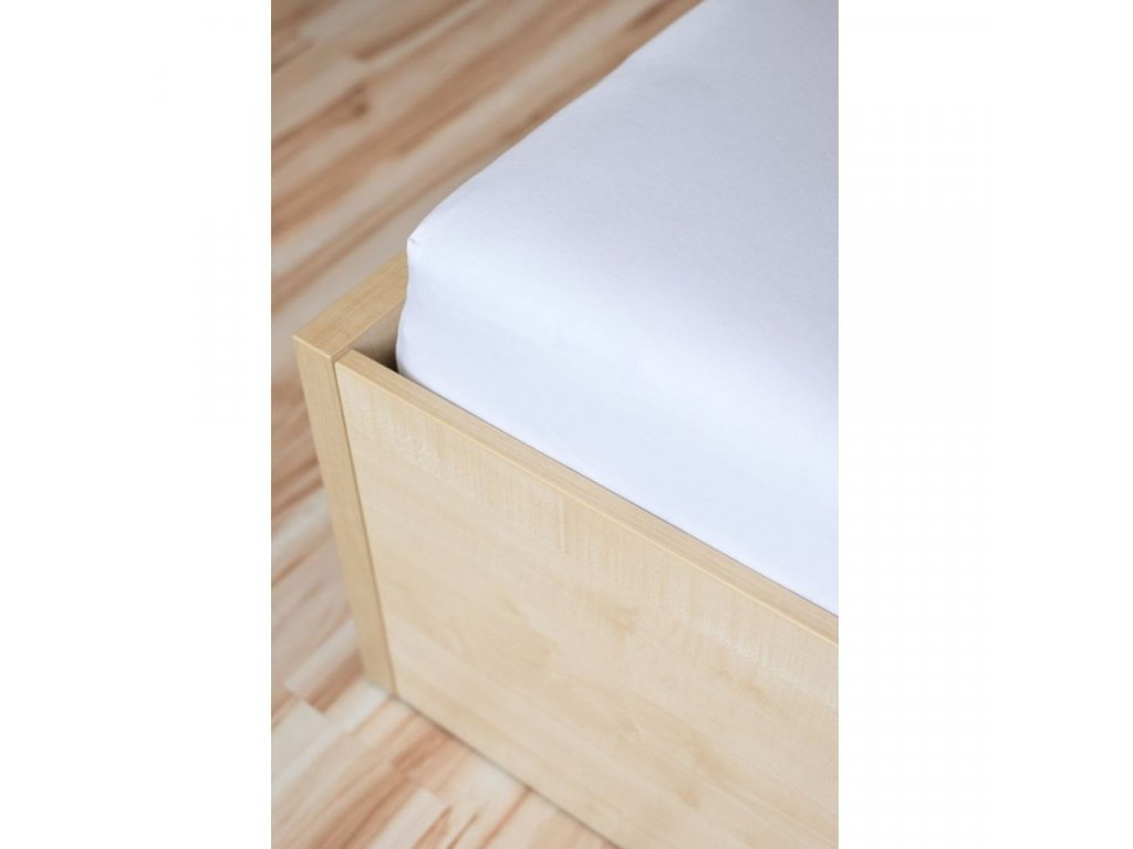 Atypická plachta na postel v rozmere 80x160cm jersey biela 000