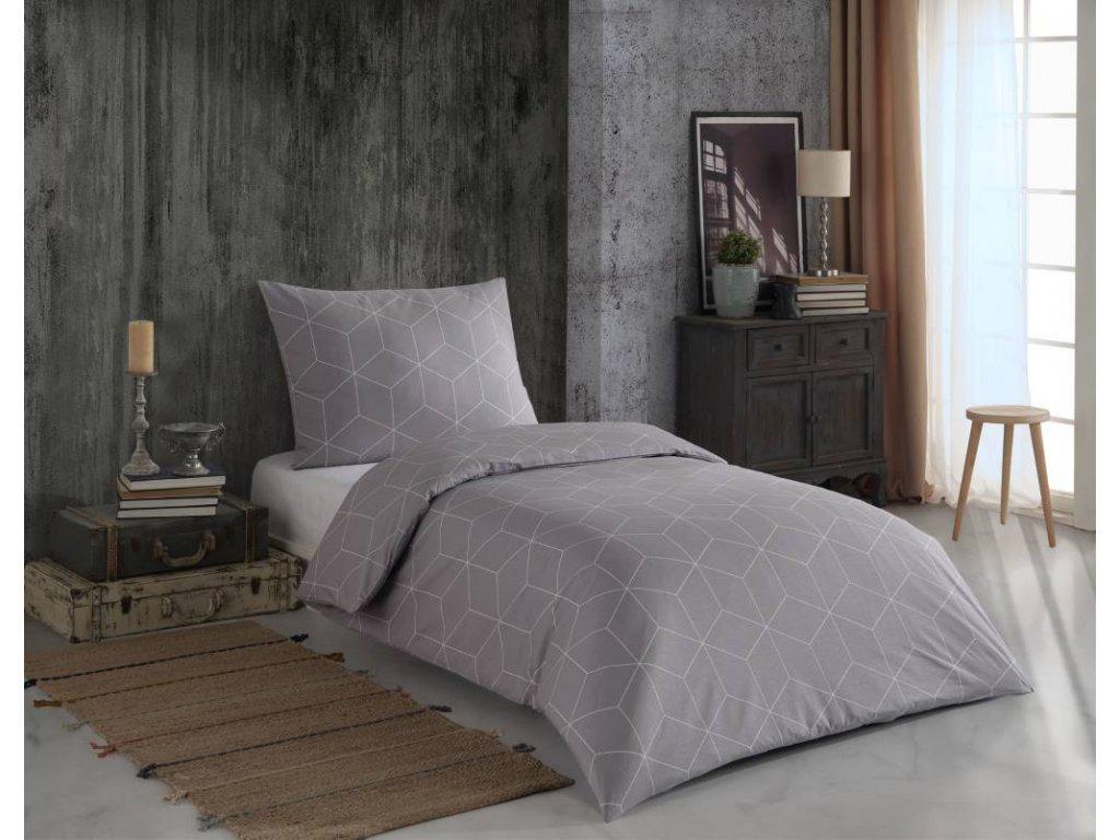Obliečky zo 100% bavlny Alya grey_Night In Colours