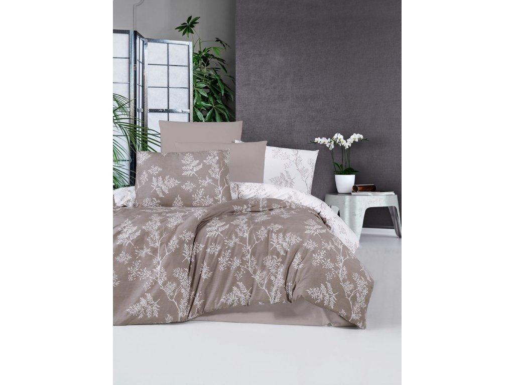 hnede bavlnene obliecky na postel fadeks brown gabonga
