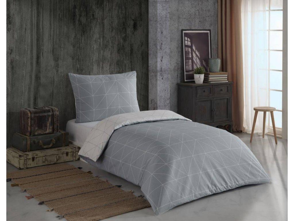 Obliečky zo 100% bavlny Mina grey deluxe