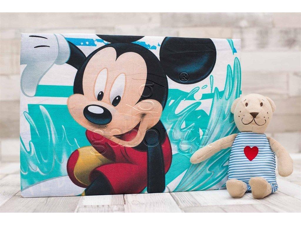 Detská plachta na posteľ Disney - Mickey Mouse - 90x200cm