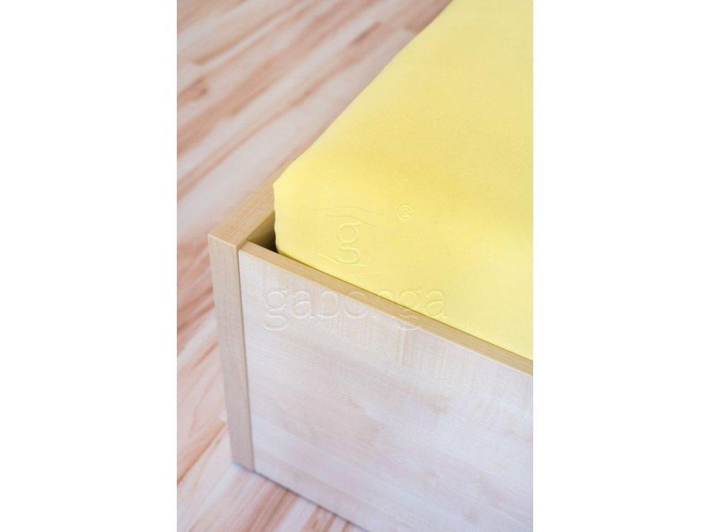 Žltá detská plachta do postieľky - rôzne veľkosti