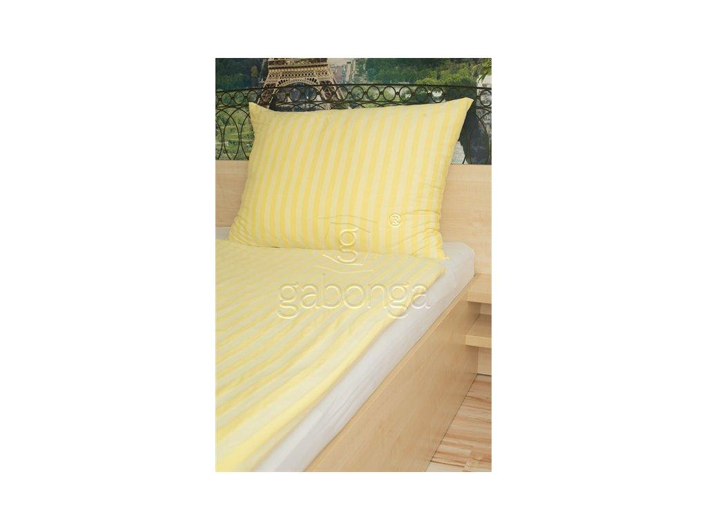 Svetlo-žlté jednofarebné obliečky z viskózy AMIDO-EXQUISIT