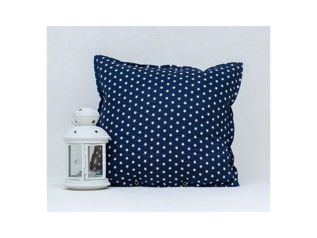 Hviezdičková modrá bavlnená obliečka Star - 40x40cm