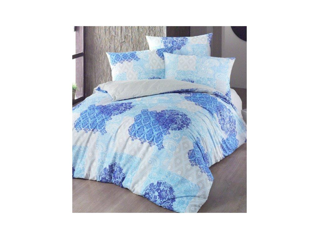 Modré bavlnené obliečky Ottorino DeLuxe