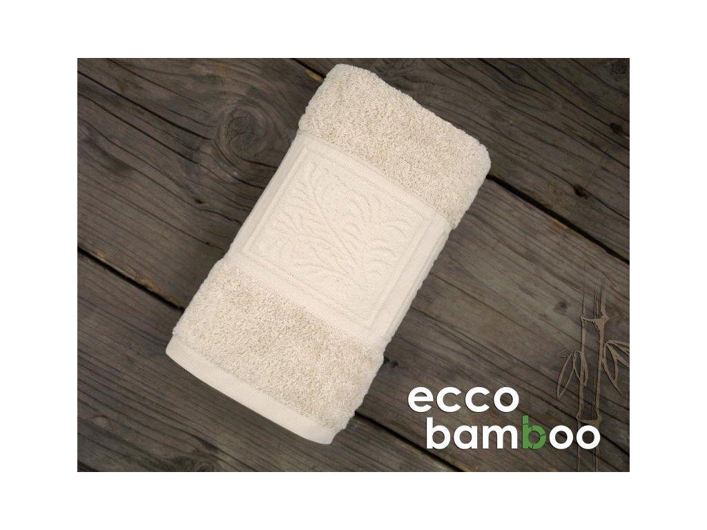 Béžový uterák Ecco bamboo - 50x90cm