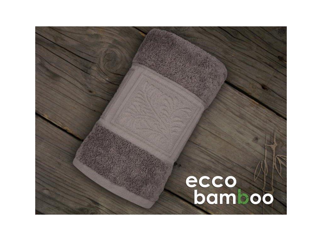 Hnedý uterák Ecco bamboo - 50x90cm