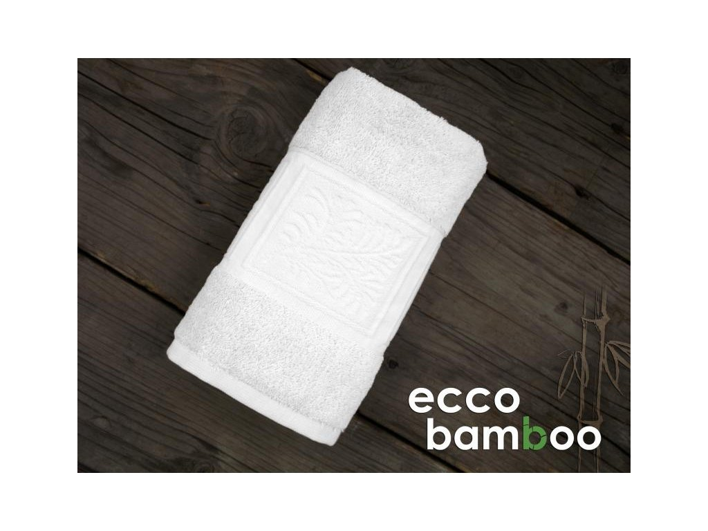 Uterák Ecco bamboo biely 50x90cm