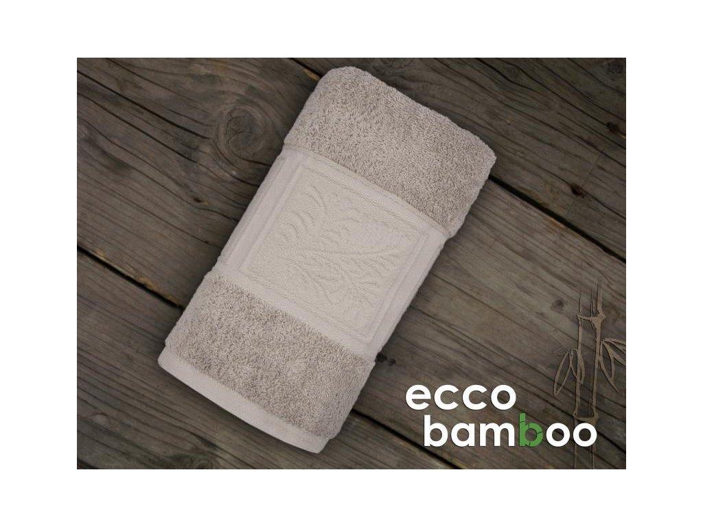 Osuška Ecco bamboo ľanová 70x140cm