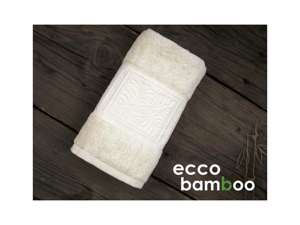 Osuška Ecco bamboo natur 70x140cm