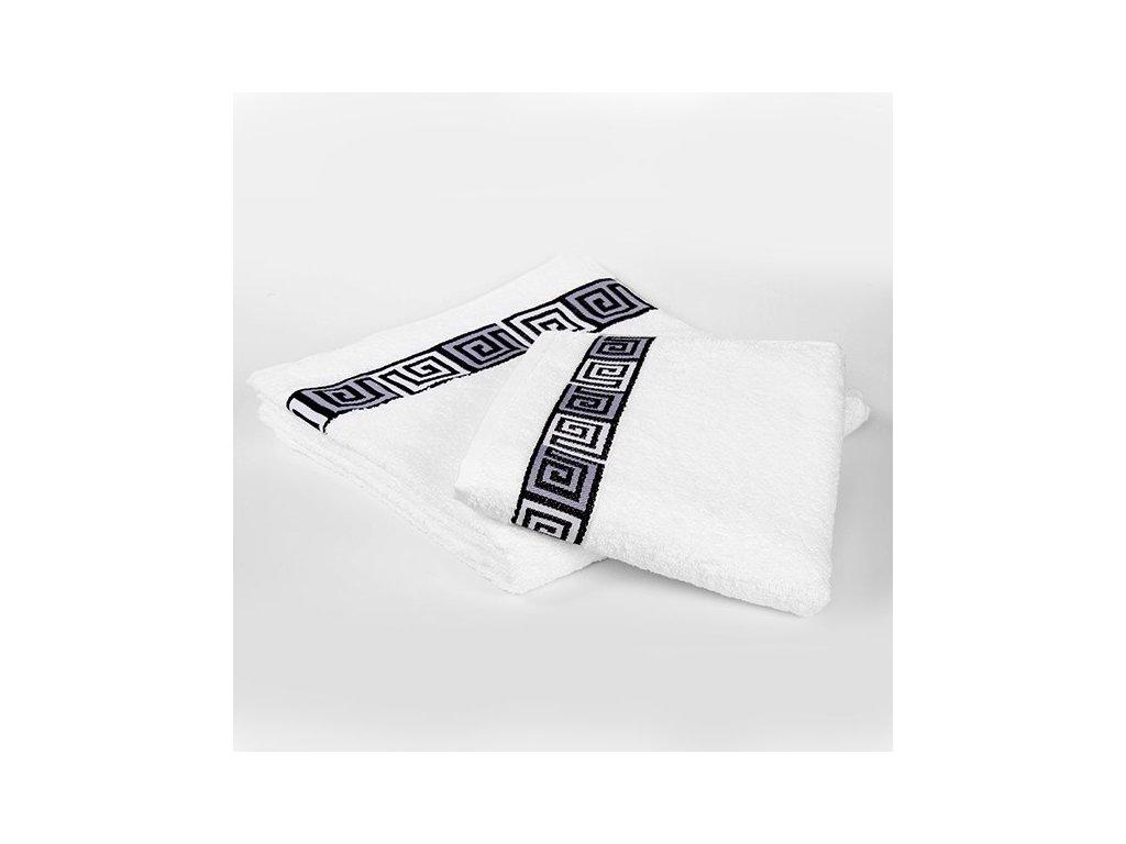 Kvalitný biely uterák Dunaj - 30x50cm