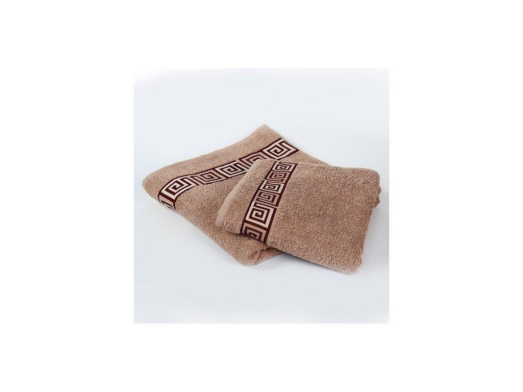 Kvalitný béžový uterák Dunaj - 50x90cm