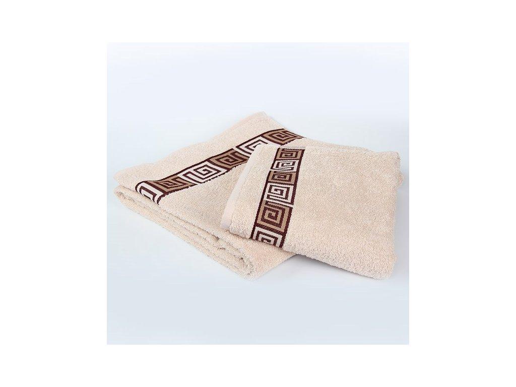 Kvalitný krémový uterák Dunaj - 50x90cm