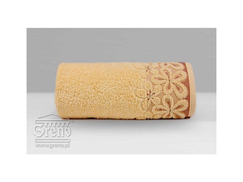 Marhuľový uterák s bordúrou Bella - 50x90cm