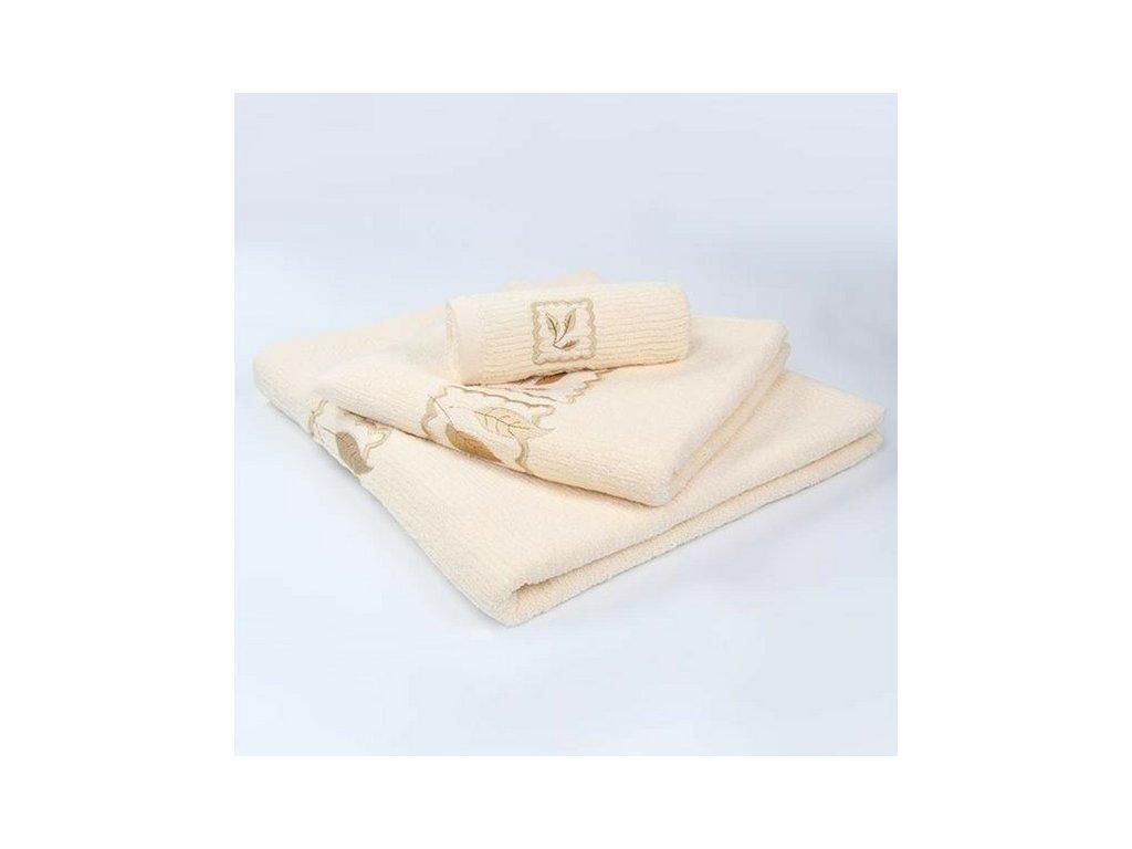 Kvalitný krémový uterák Gracia - 50x100cm