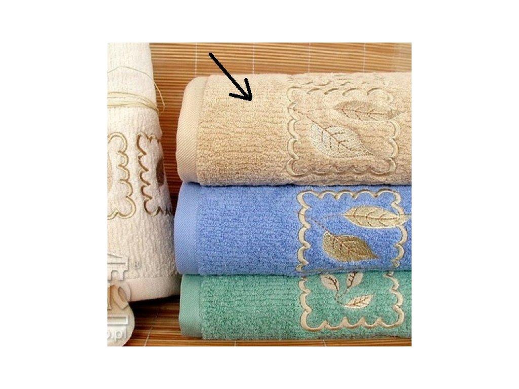 Kvalitný béžový uterák Gracia - 50x100cm