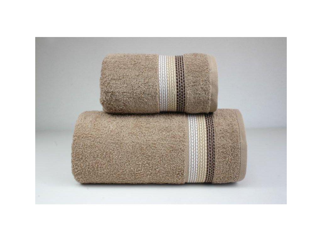 Béžový uterák Ombre - 50x90cm