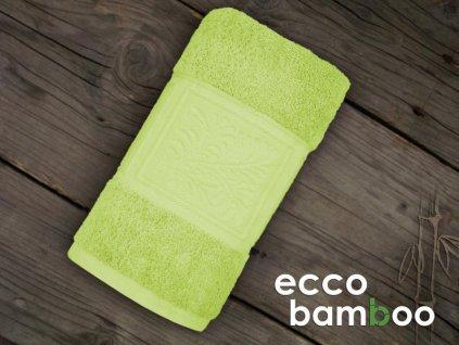 Zelený uterák Ecco bamboo - 50x90cm