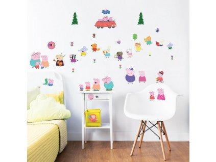 Sada dekoračných samolepiek na stenu - Peppa Pig