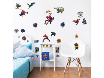 Sada nálepiek na stenu - Spiderman
