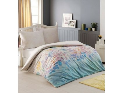 Krepové obliečky s kvetinami Night In Colours - Roomy DeLuxe