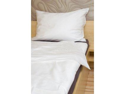 Biele obliečky z bavlneného saténu Sienna