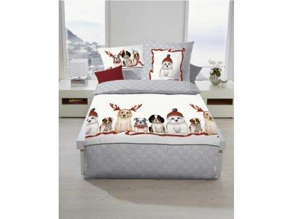 Flanelové obliečky Dogs Grau