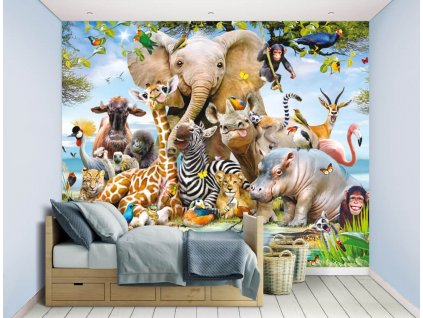 3D tapeta na stenu Safari - 244x305cm