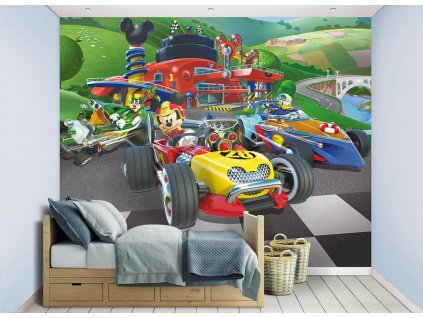 3D tapeta Mickey Mouse Roadster Racers