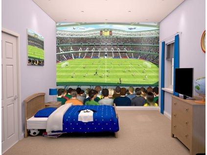 3D tapeta na stenu Futbalový štadión - 244x305cm