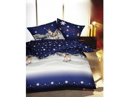 Krásne vianočné obliečky Winterwonderland Blau