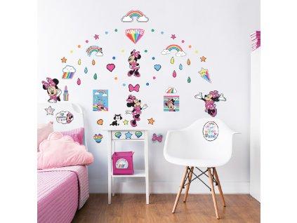 Sada dekoračných samolepiek na stenu - Minnie Mouse