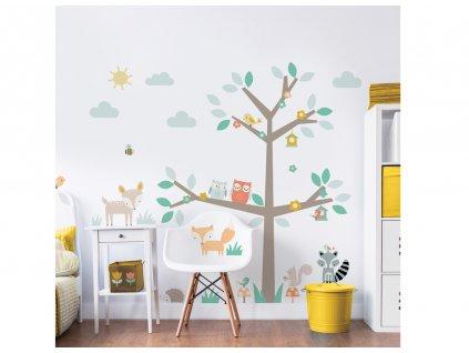 Samolepky na stenu - Woodland Tree & Friends
