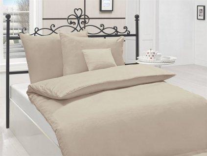 Obliečky z bavlneného saténu - farba latté/hnedá