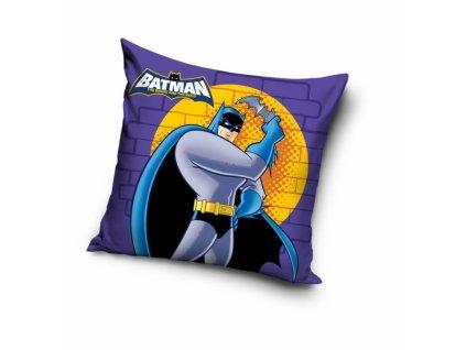 Obliečka na vankúšik Batman - fialová - 40x40cm