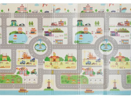 Hracia podložka pre deti Malé mesto - 140x200x1cm