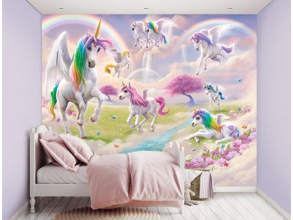 3D tapeta na stenu Jednorožci - 244x305cm
