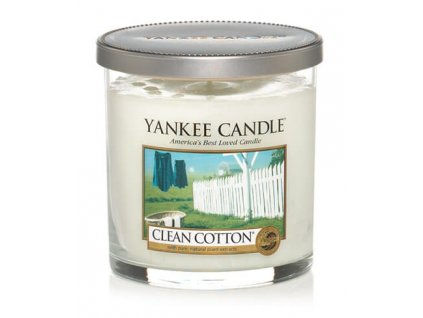 Vonná pillar sviečka Yankee Candle - Clean Cotton