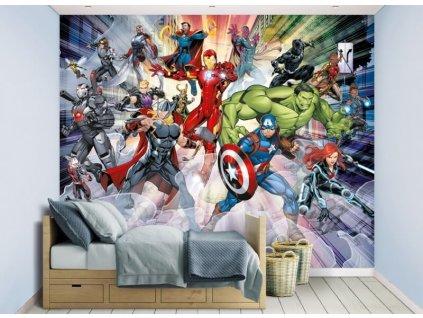 3D tapeta na stenu Avengers - 244x305cm