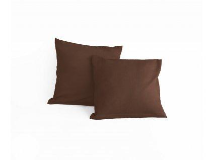Obliečka bavlnená hnedá 40x40cm