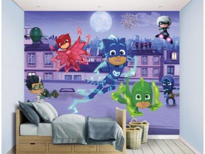 3D tapeta na stenu PJ Masks - 244x305cm