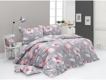 Kvetinové obliečky z bavlneného saténu Amabel