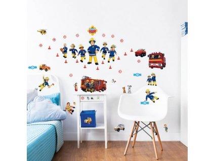 Sada dekoračných samolepiek na stenu - Požiarnik Sam
