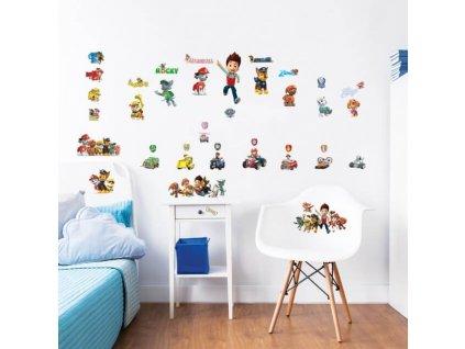 Sada dekoračných samolepiek na stenu - Paw Patrol