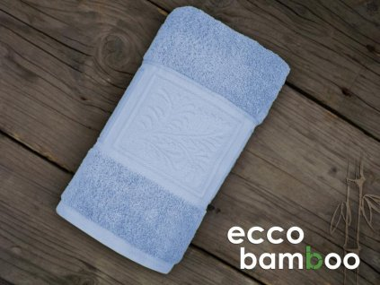 Modrá osuška Ecco Bamboo - 70x140cm